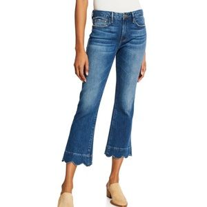 Frame | Le Crop Boot Cut Jeans with Scalloped Hem